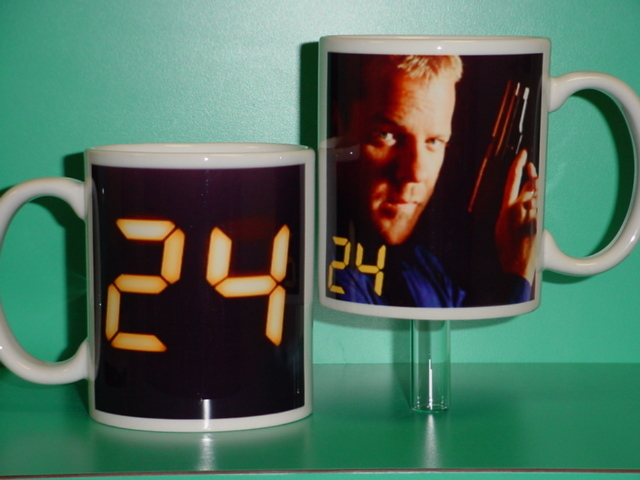 Kiefer Sutherland 24 Show Series Jack Bauer 2 Photo Collectible Mug