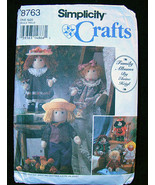 Simplicity 8763 12 inch Cloth Doll and Clothing Patterns 199 - $5.00