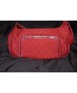 Liz & Co Purse Red Signature Fabric - $10.00