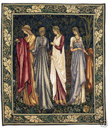 46x38 CAMELOT LADIES Medieval Art Tapestry Wall... - $600.00