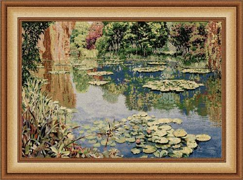 49x66 Monet LAKE GIVERNY Art Tapestry Wall Hanging