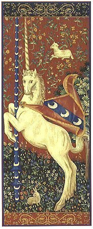 75x28 Medieval Mythical UNICORN Tapestry Wall Hanging