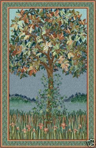 51x32 TREE OF LIFE FLANDERS Art Tapestry Wall Hanging