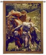 53x66 LA BELLE Knight Medieval Tapestry Wall Ha... - $259.95