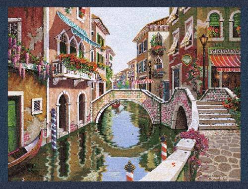 33x43 VENICE Italy Canal Waterway Tapestry Wall Hanging