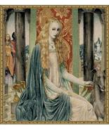 34x32 LADY Renaissance Medieval Tapestry Wall H... - $150.00
