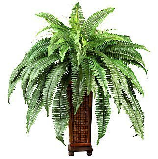 33x32 Silk Artificial BOSTON FERN Tropical Plant w Vase