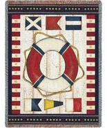 54x70 Nautical Flag Sea Beach Afghan Throw Blan... - $49.95