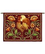 34x26 SUNRISE ROOSTER Farm Bird Tapestry Wall H... - $49.95
