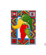 10x14 CHILI PEPPERS Jalapeno Stained Art Glass ... - $42.00