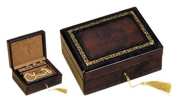 Toscano Leather Jewelry Box by Fiorentina