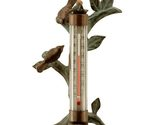 Buy Lovebird Wall Mount Outdoor Brass Thermometer Verdi