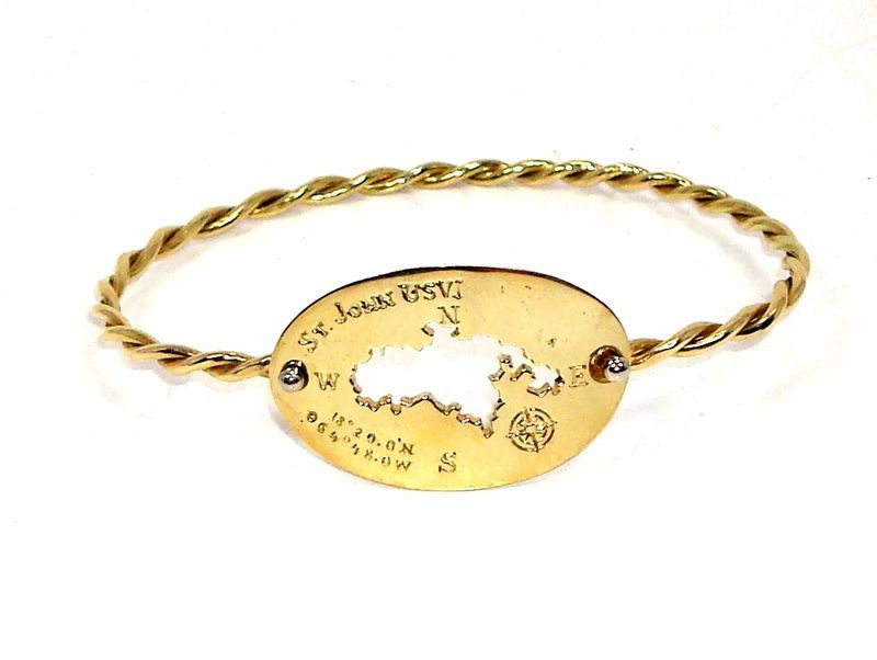 RARE Solid 18K Gold R. CIPULLO St. John USVI Bangle Bracelet NEW Retail $2,600