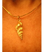 Shell Pendant Necklace Gold and Timeless Jewelry - $20.00