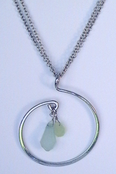 Silver Freshwater Wave Necklace by Cookie Lee