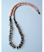 Pink Shell and Turquoise Nugget Necklace - $35.00