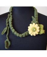 """English Garden"" Handmade Crocheted Floral Necklace"