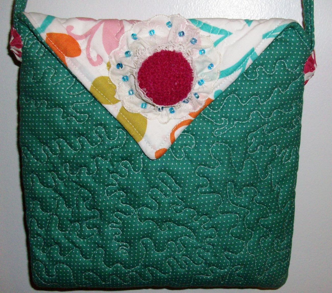 Handmade  Quilted Purse Handbag Original Design by Pursephoric Brand