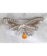 Elegant Avon Art Deco Style Honey Rhinestone & ... - $12.95