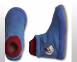 Buy toddler slippers - Land's End Boys Toddler Blue Fleece Bootie Slippers w/Suede