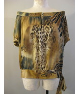 Dressbarn Animal Print Womans Blouse Sz 1X - $13.00