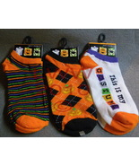Set of 3 Ladies Halloween Ankle-high Socks Blac... - $8.99