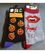 2 pr. Vampire Jack-o-lantern Halloween Ladies S... - $5.99