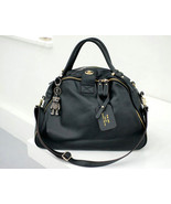 NEW Bigger Size.Casual Chic Black Leather Tote ... - $180.90
