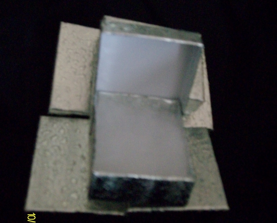 Pendant or Charm Boxes,  Silver ( 6 )