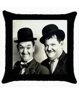 NEW* LAUREL AND HARDY Black Cushion Cover Throw... - $18.99