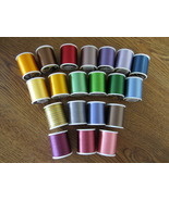 Coats &amp; Clark Twist Rayon Embroidery Thread 20 spools