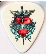 Bon Jovi Guitar Pick Dagger & Heart White Plect... - $3.99
