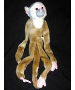 Hanging Squirrel Monkey Plush Stuffed Animal Wi... - $19.98