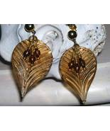 New Artisian Wire Wrapped Glass Bead Fall Leaf ... - $6.00