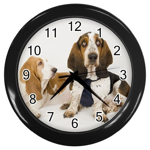 BASSET HOUND DOG PUPPY PUPPIES PHOTO WALL CLOCK GIFT