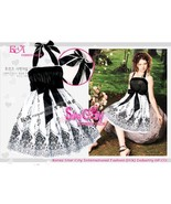 Halter Style Party Prom Dress with Self-Tied Bo... - $10.00