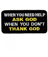 Embroidered Christian Patch When You Need Help ... - $3.22