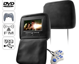 Buy Car Video Players   - 7 Inch Headrest DVD Player Pair + Emulator & FM Transmitter