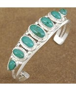 Genuine Turquoise Sterling Silver Traditional S... - $472.57