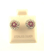 BEAUTIFULL SPARKLEING SILVER BALL ERRINGS WITH ... - $19.34