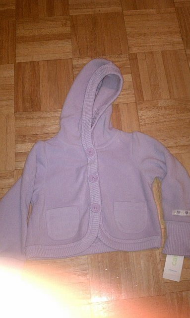 Carters purple fleece hooded sweatshirt 24 months
