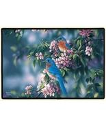 27x18 BLUEBIRD Bird Flower Floral Doormat Floor... - $23.50