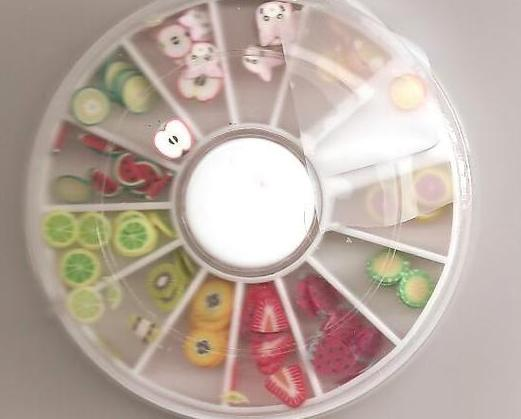 Wheel Nail Art Fruit Slice Decoration