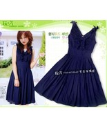 Sleeveless Ruffle V-Neck Dress with Embroidery ... - $8.00