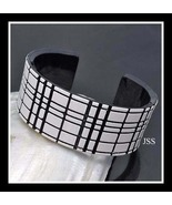 Black and White Grid Lucite Bangle - $12.00