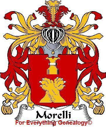 MORELLI Italian Coat of Arms Print MORELLI Family Crest
