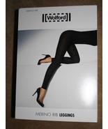 Wolford merino rib leggings black size medium NIB - $48.00