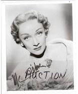 Marlene Dietrich Autographed Authentic Photo RARE - $185.00