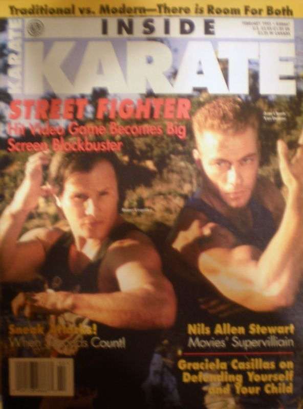 Inside Karate Magazine Feb 95 Street Fighter Van Damme