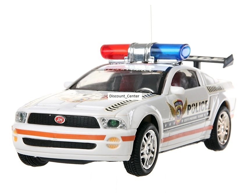 4-Channel 1:18 Remote Control Police Car with Lights and music (White)